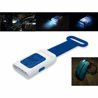 Obrázek produktu SEE - plastová 4 LED svítilna s odrazkou, silikonový úchyt, výběr barev