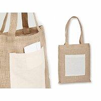 MANISHA - jutová nákupní taška přes rameno, přírodní