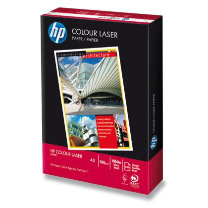Obrázok produktu HP Colour Laser Paper - xerografický papier - A3, 100 g, 500 listov