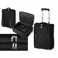 SANTINI THORVALD - polyesterový kufr na kolečkách, 600D, černá