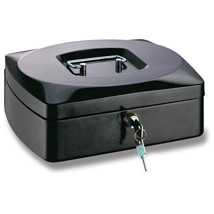 Obrázek produktu ConmetRON - přenosná zamykatelná pokladna - 255×200×90 mm, černá