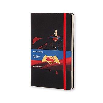 Obrázek produktu Zápisník Moleskine Batman vs. Superman - tvrdé desky - L, linkovaný, černý