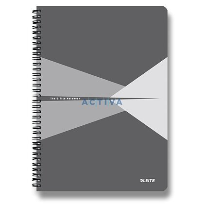 Obrázok produktu Leitz Office - krúžkový blok - A4, 90 listov, linajkový, šedý