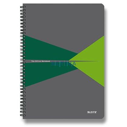 Obrázok produktu Leitz Office - krúžkový blok - A4, 90 listov, linajkový, zelený