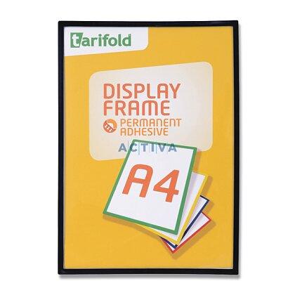 Obrázek produktu Tarifold Display Frame - samolepicí prezentační rámeček - A4, 1 ks, černý