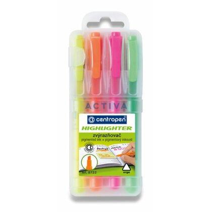Obrázek produktu Centropen Highlighter 8722 - zvýrazňovač - 4 barvy