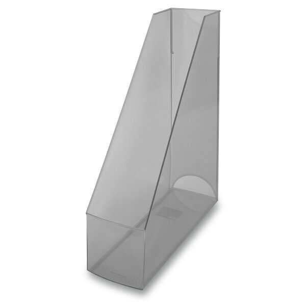 Stojan na katalogy Economy Transparent šedý