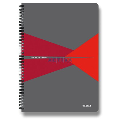 Obrázok produktu Leitz Office - krúžkový blok - A5, 90 listov, linajkový, červený