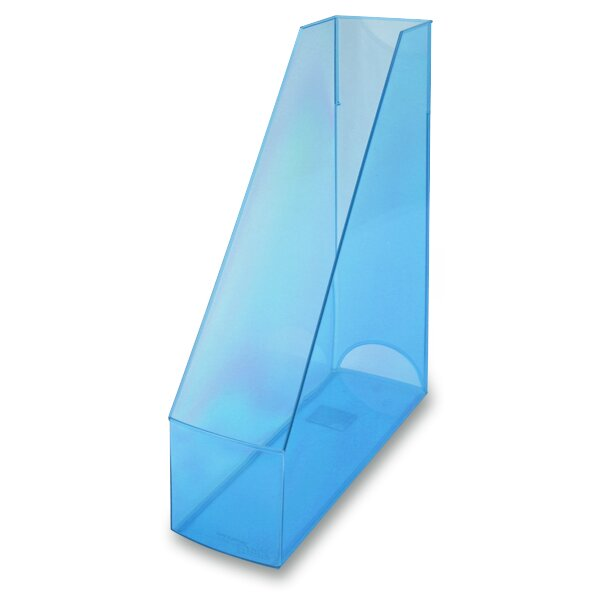 Stojan na katalogy Economy Transparent modrý
