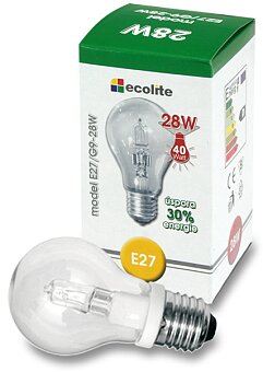 Obrázek produktu Halogenová čirá žárovka Ecolite - 28 W (40 W)