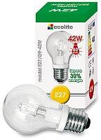 Halogenová čirá žárovka Ecolite