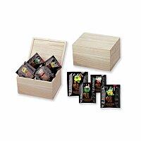 CADDY - sada čajů Biogena 4 x 8 ks v dřevěné krabici, přírodní