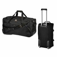 SANTINI SIMEON - polyesterová cestovní taška na kolečkách, 600D, černá