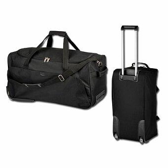 Obrázek produktu SANTINI SIMEON - polyesterová cestovní taška na kolečkách, 600D, černá