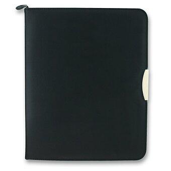 Obrázek produktu Koženkové portfolio se zipem Zipper Ring - pro A4, kroužková mechanika, včetně bloku