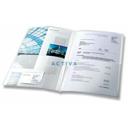 Obrázek produktu Esselte - zakládací desky A4 - transparentní