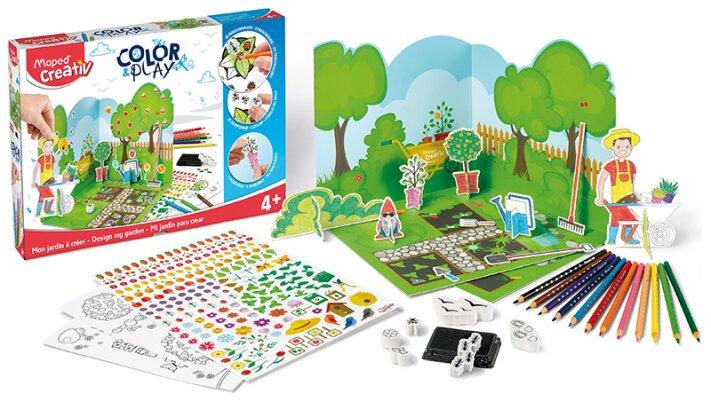 Kreativní sada pro vytvoření vlastní scenérie zahrady - Maped Creativ Color & Play zahrada