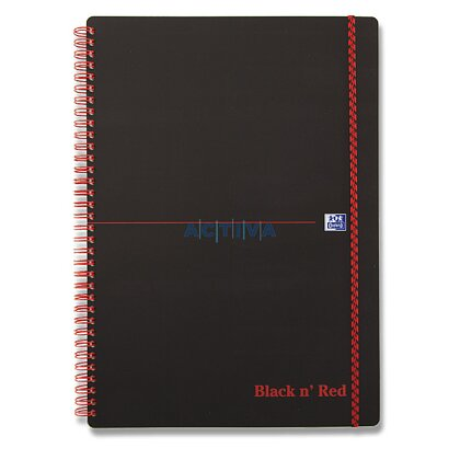 Obrázok produktu Oxford Black and Red - krúžkový blok - A5, 70 l., štvorčekový