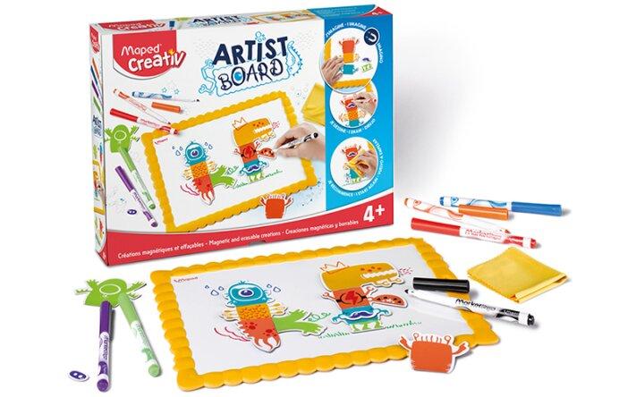 Výtvarná sada pro začínající umělce - Maped Creativ Artist Board magnetická tabule s příšerkami