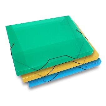 Obrázek produktu Box na dokumenty Transparent - A4, hřbet 30 mm, výběr barev