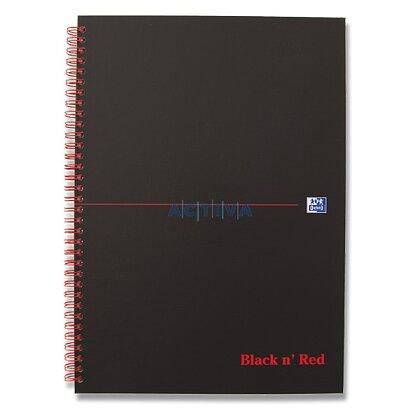 Obrázok produktu Oxford Black and Red - krúžkový blok - A4, 70 l., štvorčekový