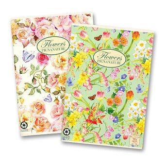 Obrázek produktu Školní sešit Pigna Nature Flowers - A4, linkovaný, 40 listů, mix motivů