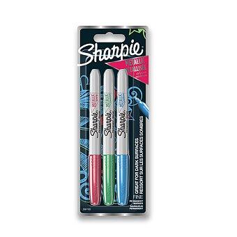 Obrázek produktu Permanentní popisovač Sharpie Metallic - blistr, 3 ks