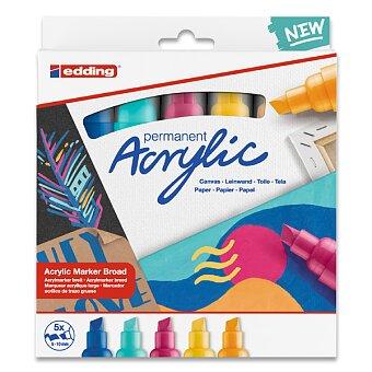Obrázek produktu Sada akrylových popisovačů Edding 5000 Abstract - 5 barev