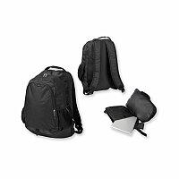SANTINI MELVIN - polyesterový batoh na notebook, 600D, černá