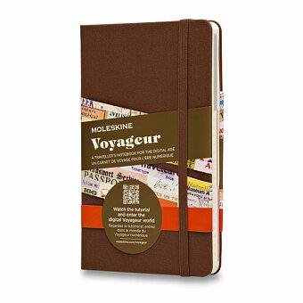 Obrázek produktu Zápisník Moleskine Voyageur - tvrdé desky - 11,5 x 18 cm, hnědý