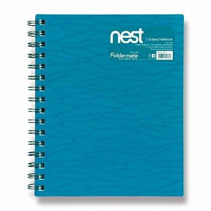Obrázok produktu Foldermate NEST - špirálový blok - A5, 120 listov, modrý