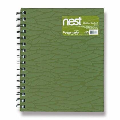 Obrázok produktu Foldermate NEST - špirálový blok - A5, 120 listov, olivovo zelený