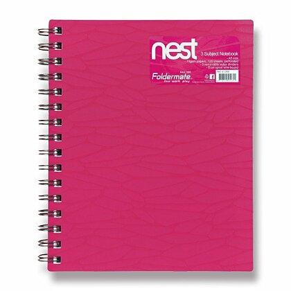 Obrázok produktu Foldermate NEST - špirálový blok - A5, 120 listov, ružový