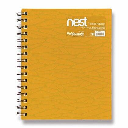 Obrázok produktu Foldermate NEST - špirálový blok - A5, 120 listov, zlatožltý