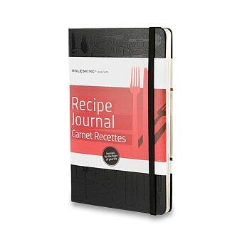Obrázek produktu Zápisník Moleskine Passion Recipe Journal - tvrdé desky - L, černý