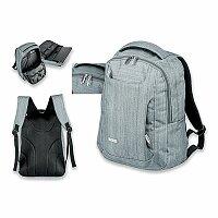 SANTINI KARDON - polyesterový batoh na notebook, 600D, šedá