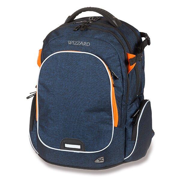 Školní batoh Walker Campus Wizzard Dark Blue Melange