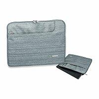SANTINI BELUGA - polyesterové pouzdro na notebook, 600D, šedá