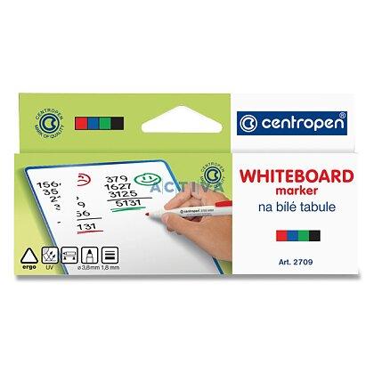 Obrázek produktu Centropen Whiteboard Marker 2709 - popisovač na bílé tabule - 4 barvy