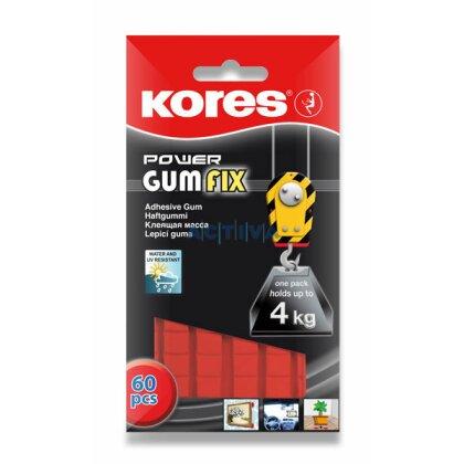 Obrázek produktu Kores GumFix - oboustranně lepicí guma - silně lepicí, 60 ks