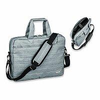 SANTINI RAFFI - polyesterová taška na notebook, 600D, šedá