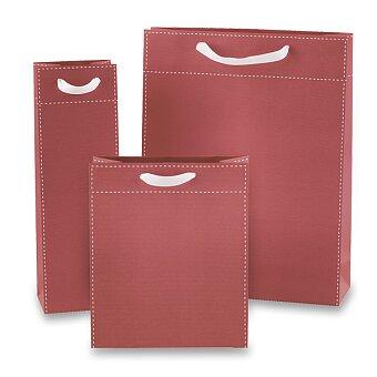 Obrázek produktu Dárková taška Tinta Unita - červená, různé rozměry