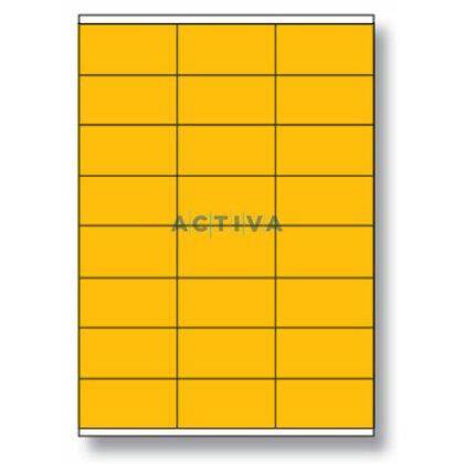 Obrázek produktu Rayfilm - samolepicí etikety - 70×36 mm, 2400 etiket, oranžová fluo