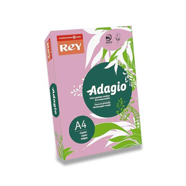 Barevný papír Rey Adagio růžový