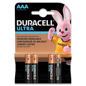 Obrázek produktu Alkalicko - manganová baterie Duracel Ultra - AAA, 4 ks