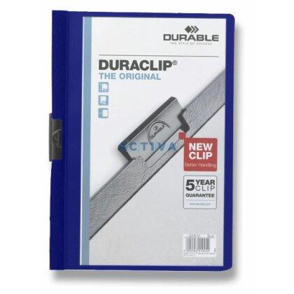 Obrázek produktu Durable Duraclip - plastový rychlovazač na 60 listů - tmavě modrý