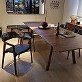 Conde House židle Ten ořech, černá kůže Baltique Black