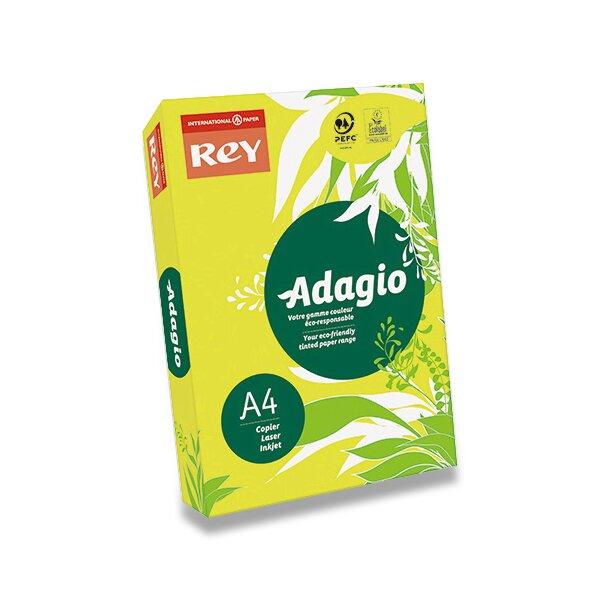Barevný papír Rey Adagio žlutý