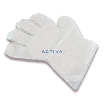 Obrázek produktu Jednorázové polyetylenové rukavice - vel. L, 100 ks