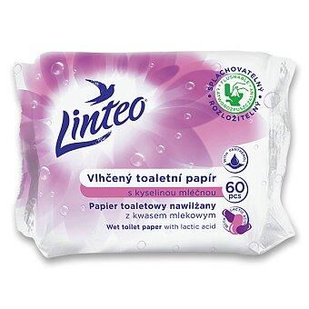 Obrázek produktu Vlhčený toaletní papír Linteo - 60 ks, kyselina mléčná